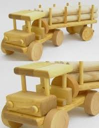 Build Big Wood Toy Trucks by