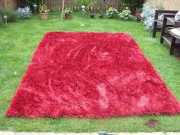 Extra Large Red Rug Top Quality Heavy Extra Large Red Rug With Deep Pile As New