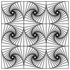optical illusion coloring pages glum