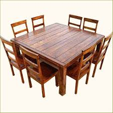 Square Wood Dining Tables Appalachian Rustic 9 Pc Square Wood Dining Table And Chair Set