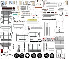 réalisations de camions 2d camions poids lourds utilitaires