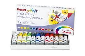 amazon com pentel arts water colors assorted 5ml tubes 12