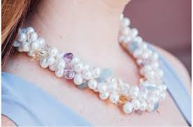 natural pink pearl necklace images Natural stones and freshwater pearl necklace pearl rack jpg