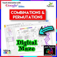 algebra permutations combinations fun maze with google slides by