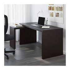 bureau malm malm bureau avec tablette coulissante brun noir ikea