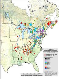 Where Is Ohio On The Map by White Nose Syndrome Map White Nose Syndrome