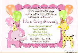 baby shower cards sweet safari baby shower invitation girl pink animal