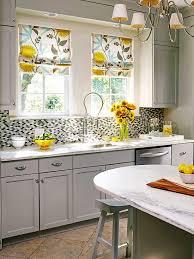 Kitchen Curtain Design Interesting Kitchen Window Treatments 2015 Shades Cool Brown