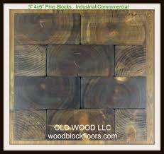 industrial wood block floors