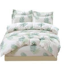 light green small tree pattern china bedsheets 3 size bedding set
