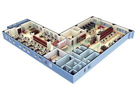Business Floor Plan Software Residence With Office Kerala Home Design And Floor Plans World Of