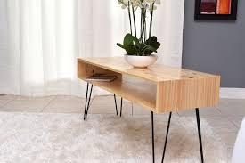 rectangular wood hairpin coffee table how to make a coffee table with hairpin legs