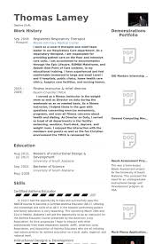 respiratory therapist resume samples visualcv resume samples