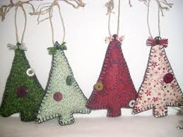 primitve tree fabric ornaments rustic country