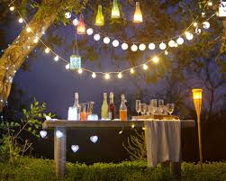 sweet hanging lights for chic backyard party inspiring outdoor