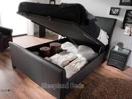 great double ottoman storage bed ottoman sleigh bed ebay hemling