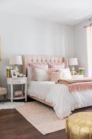 Pink Peonies Bedroom - blogger jessica sturdy of bows u0026 sequins shares her chicago