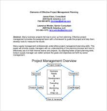11 project management plan templates u2013 free sample example