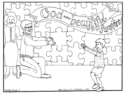 family day god u0027s family coloring sunday coloring page