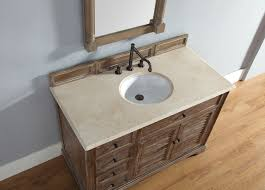 Cottage Bathroom Vanity Cabinets by 48 Inch Driftwood Finish Single Cottage Bathroom Vanity