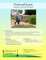 Olive Garden Online Job Application Volunteer Positions Olivewood Gardens U0026 Learning Center