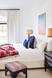 White Bedroom Throw Pillows Before And After Erin Foster U0027s Pastel Perfect L A Home