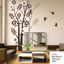 compare prices on tree wall decal online shopping buy low price tree wall decal with birds tree shadow for living room bedroom vinyl wall decals wall art
