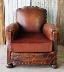 Vintage Leather Club Chair Vintage French Leather Club Chair The Hoarde