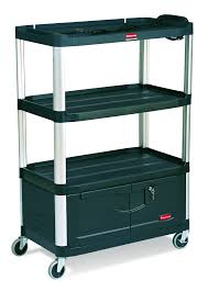 rubbermaid service cart with cabinet rubbermaid commercial fg9t3500bla audio visual aluminum service cart