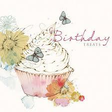 happy birthday card cupcake butterflies flowers size 6 25 x 6 25