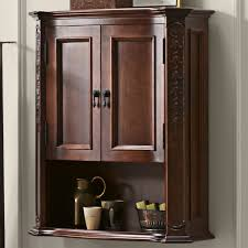 In Wall Bathroom Storage Furniture For Bathroom Decoration Using Solid Cherry Wood Wall