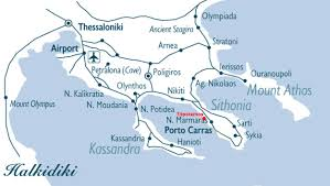Thessaloniki Greece Map by Eco Green Living Toroni A True Eco Luxury Experience