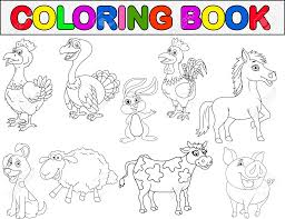 farm animal coloring book royalty cliparts vectors and