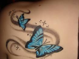 butterfly on shoulder designs designs for