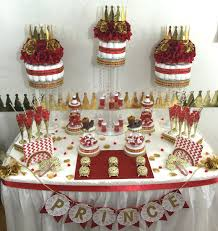 Baby Shower Candy Buffet Pictures by Red And Gold Baby Shower Candy Buffet Centerpiece With Baby