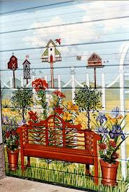 best 25 garden mural ideas on pinterest fence painting garden garage murals country garden garage door mural for backyard of home in baldwin new