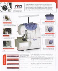 nina 9102d overlocker serger reliable 3 u0026 4 cone with built in