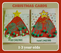 easy christmas cards for toddlers here come the girls