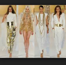 white and gold jumpsuit shoes blouse gold and white gold jewelry jumpsuit sequins