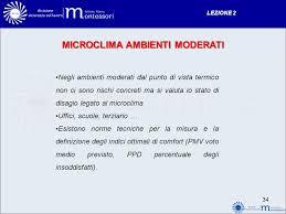 microclima uffici lezione 2 rischi sul lavoro ppt scaricare