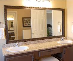Frame Bathroom Mirror Kit Amusing Bathroom Mirror Framing Kits Architecture And Interior