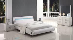 bedroom curve white modern platform set roma bedroom modrest