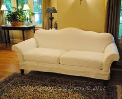 slipcover for camelback sofa cozy cottage slipcovers camel back sofa