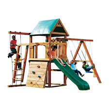 ideas happy kidsplay with wooden swing sets clearance