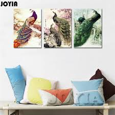 Chinese Style Home Decor Aliexpress Com Buy Modern Home Decor Canvas Art Print Peacock