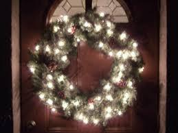 over christmas lights