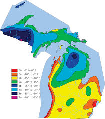Michigan Casinos Map by Michigan Temperature Map Michigan Map