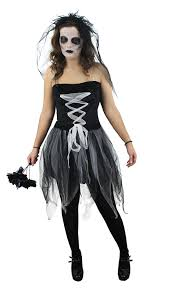 ladies ghost bride halloween fancy dress costume corpse bride