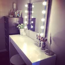 hollywood mirror lights ikea ikea malm vanity mirror lights and stool also from ikea make vanity