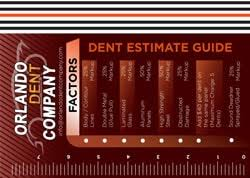 Dent Repair Estimate by Orlando Dent Company Dent Removal Paintless Dent Repair